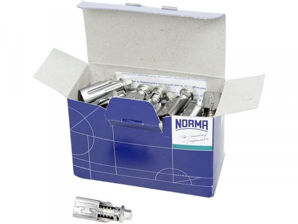 Boîte de 50 têtes inox pour colliers 12 mm